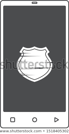 Móvel mão telefone escudo vírus guarda Foto stock © vector1st