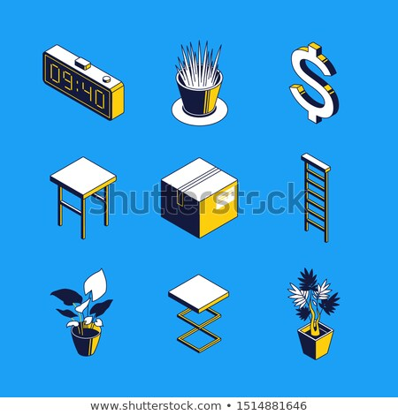 Daily routine - colorful vector isometric icons set Stock photo © Decorwithme