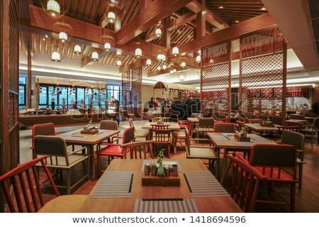 Luxueus restaurant houten comfortabel tijdgenoot ontwerp Stockfoto © pressmaster