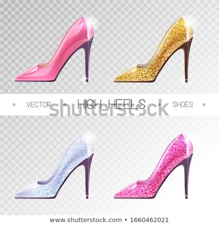 Club nocturno disco ball zapato talones vector fiesta Foto stock © robuart