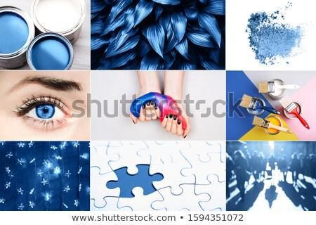 Nő apró körömlakk illusztráció kezek Stock fotó © adrenalina