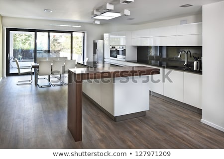 Modern kitchen in a brand new house Stock photo © Lopolo