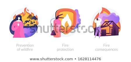 Fire protection concept vector illustration. Stock photo © RAStudio