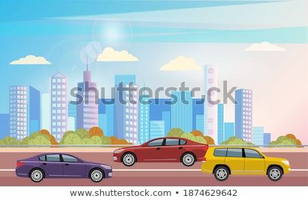 Smart samochodu pojazd transportu jazda konna miasta Zdjęcia stock © robuart