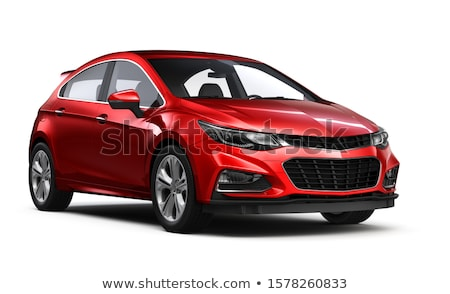 Red Car Isolated on White Background, Hatchback Stock photo © robuart
