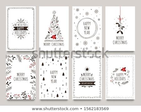 Inverno vacanze cartolina natale poster Foto d'archivio © robuart