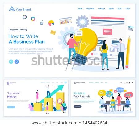 Exitoso misión datos análisis negocios web Foto stock © robuart
