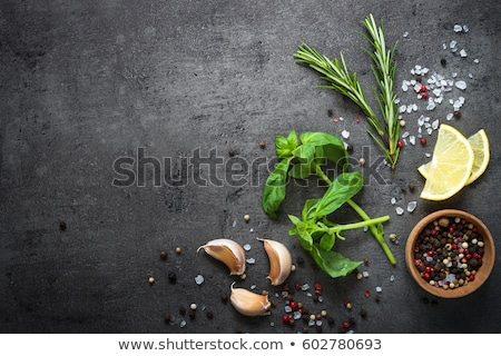 продовольствие чеснока темно каменные Top мнение Сток-фото © dariazu