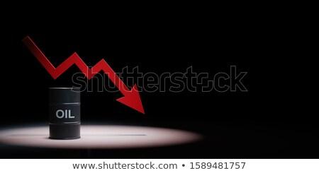 Cadere arrow grafico nero rosso copia spazio Foto d'archivio © make