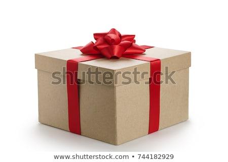 Cajas de regalo papel Navidad regalo bordo Foto stock © furmanphoto