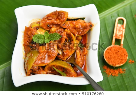 South Indian Lemon Pickle is a spicy tangy pickle Stock photo © joannawnuk