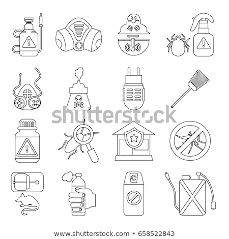 Syringe Mosquito Icon Vector Outline Illustration Stock photo © pikepicture
