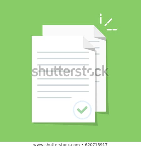 Documento texto arquivo aprovado vetor Foto stock © pikepicture