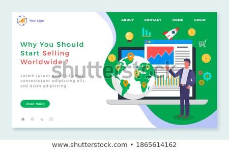 Start verkopen wereldwijd vector b2b online Stockfoto © robuart