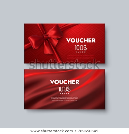100 Dollars Gift Card, Certificate with Ribbon Stock photo © robuart