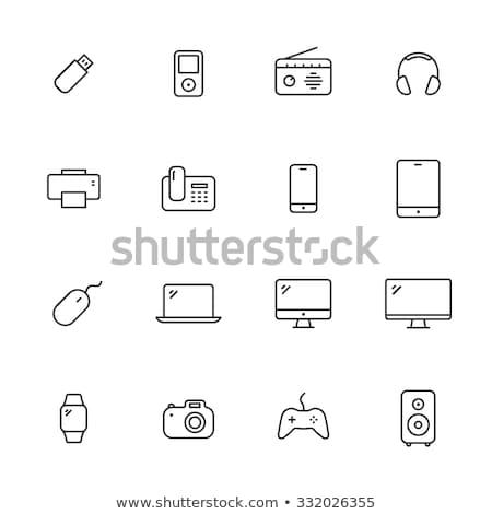 цифровой связь икона вектора иллюстрация Сток-фото © pikepicture