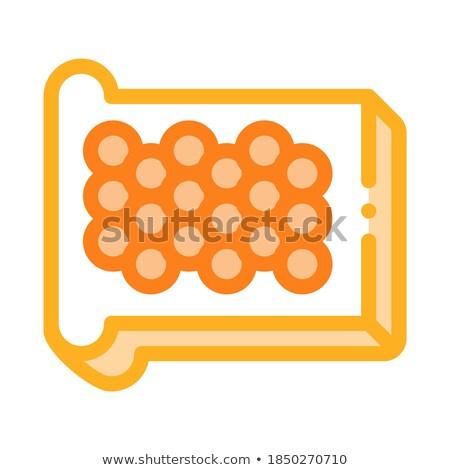 Caviar pão ícone vetor ilustração Foto stock © pikepicture