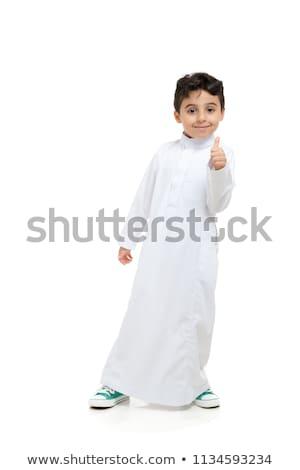 Ислам мальчика изолированный иллюстрация счастливым дети Сток-фото © bluering