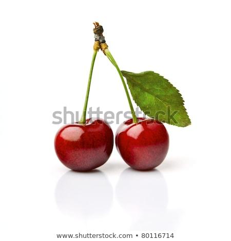 Rojo cereza grupo cerezas frutas blanco Foto stock © posterize