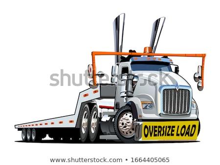Cartoon oversize load transporter Stock photo © mechanik