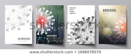 Stock photo: Coronavirus report template cover page