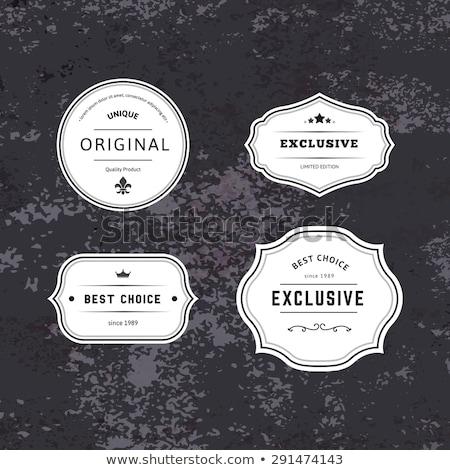 Orijinal prim ürünleri etiket 100 yüzde Stok fotoğraf © robuart