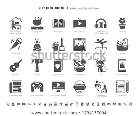 Healthy Food related vector glyph icon. Stock photo © smoki