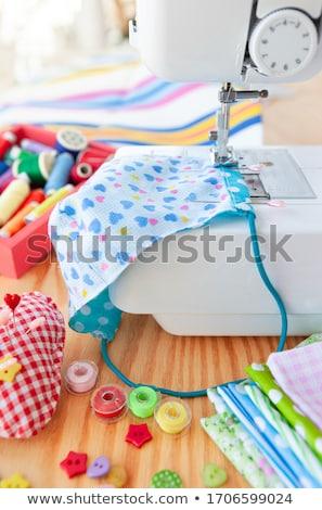 カラフル 裁縫 ミシン 綿 ストックフォト © BarbaraNeveu