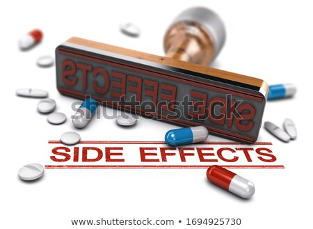 Risk assesment of drugs. Side effects of medical treatment. Stock photo © olivier_le_moal