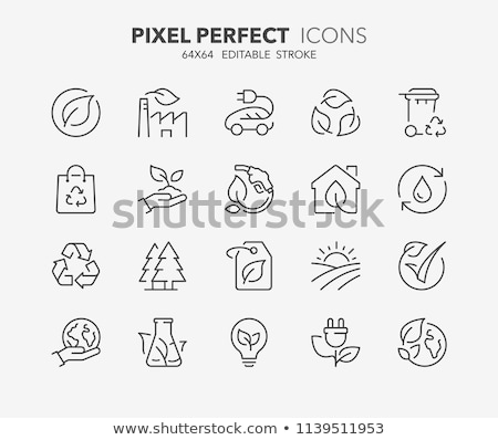 Recycle Factory Ecology Industry Icons Set Vector Stock photo © pikepicture