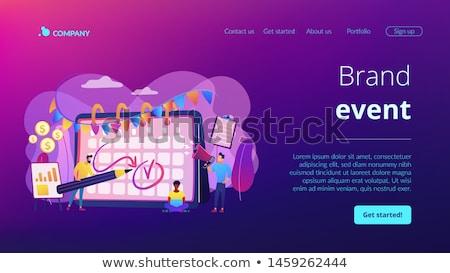 Brand event concept landing page Stock photo © RAStudio