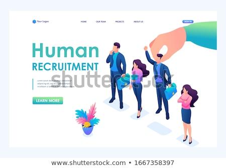 Wanted employees concept landing page Stock photo © RAStudio
