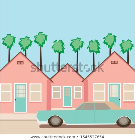 Townscape with Street and Vehicle Urban Lifestyle Stock photo © robuart