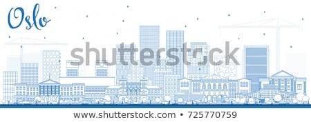 オスロ スカイライン 青 建物 ストックフォト © ShustrikS
