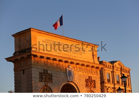 Triumphal arch called Arc de Triomphe, historical landmark in Paris, France Stock photo © Anneleven