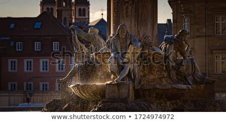 Old fountain in town of Wurzburg, Bavaria, Germany Stock photo © kyolshin