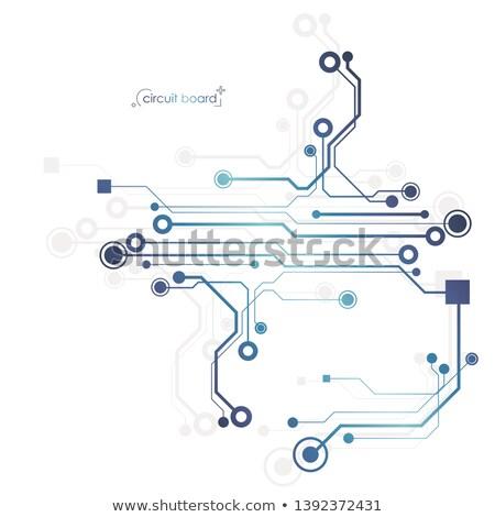 Integrált áramkör copy space fekete számítógép mikrocsip Stock fotó © make