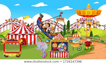 Scène veel kinderen spelen circus kind Stockfoto © bluering