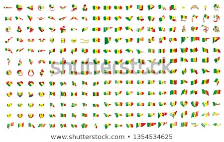 very big collection of vector flags of the Senegal Stock photo © butenkow