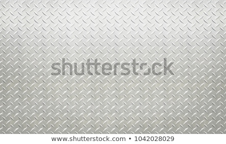 Industrial metal plate with diamond non slip surface pattern Stock photo © evgeny89