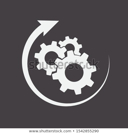 Gear Crowns With Rounded Arrows Photo stock © Supertrooper