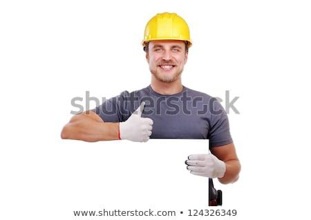 Construtor capacete martelo Foto stock © deandrobot