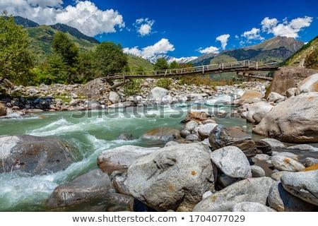 Rio vale Índia montanha cachoeira montanhas Foto stock © dmitry_rukhlenko