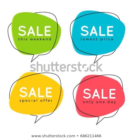 販売 吹き出し バナー ポスター 文字 幾何学的な ストックフォト © FoxysGraphic