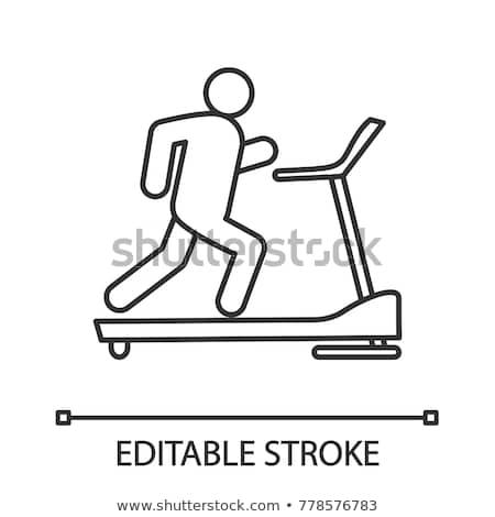 Sport tredmolen icon vector schets illustratie Stockfoto © pikepicture