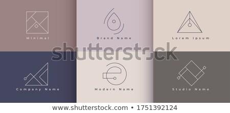 Temizlemek minimalist logo şablon ayarlamak altı Stok fotoğraf © SArts