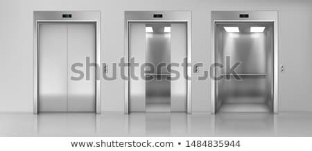 Nyitva zárva lift kettő képek modern Stock fotó © creisinger
