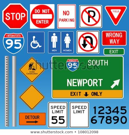 США зеленый шоссе знак высокий разрешение графических Сток-фото © kbuntu