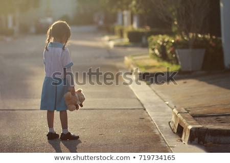 smutne · opuszczony · ulicy · dzieci · zły - zdjęcia stock © godfer