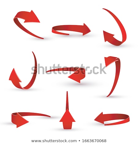 Set of long colorful arrow bookmarks Stock photo © orson